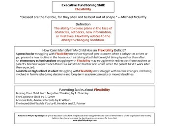 Executive Functioning Flexibility Overview