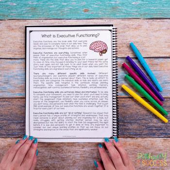 Executive Functioning Free Workbook