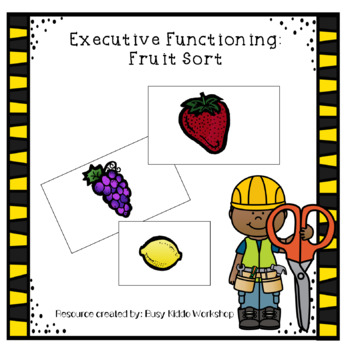 Executive Functioning- Fruits and Veggie Sort