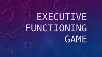 *FREEBIE* Executive Functioning Game (ppt) with bonus puzzles! **