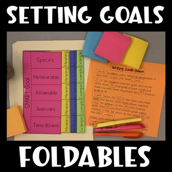 SMART Goals Interactive Notebooks (Study Skills)