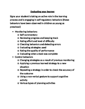 Executive Functioning: Is your student taking an active role in his learning?