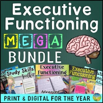 Executive Functioning MEGA Bundle - Distance Learning | Google Classroom & Print