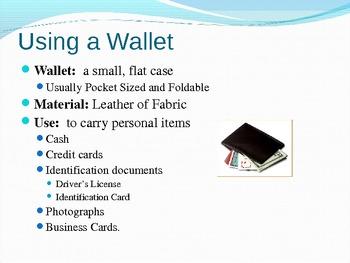 Executive Functioning Money and Banking Skills
