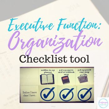 Executive Functioning: Organization Velcro Checklists