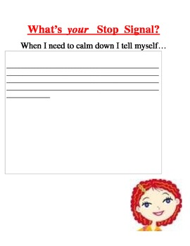 Executive Functioning & Self-Awareness: What is my stop signal to calm down?
