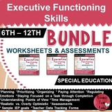 Executive Functioning Skills - BUNDLE - Worksheets and Assessments
