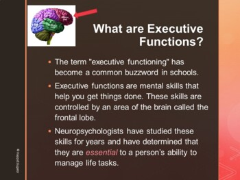 Executive Functioning Skills PowerPoint