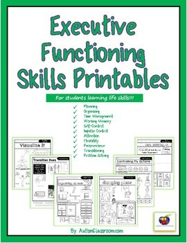 Executive Functioning Skills Printables by Autism ...