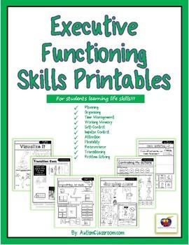 Executive Functioning Skills Printables