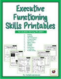 Executive Functioning Skills Printables for Students (Life