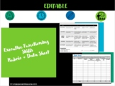 Executive Functioning Skills Rubric + Data Sheet *editable*