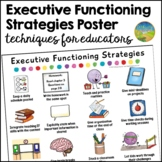 Executive Functioning Strategies for Educators Free Poster