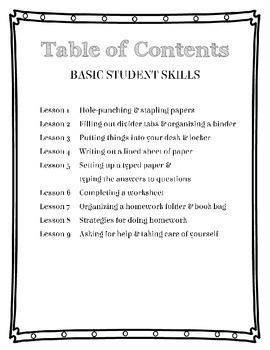 "Executive Functioning ""Student"" Skills Curriculum"