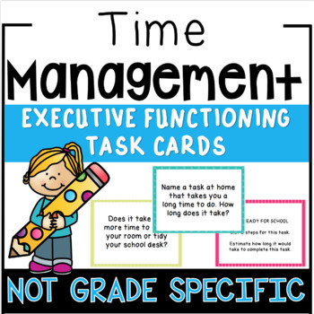 Executive Functioning - Time Estimation Task Cards