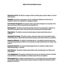 Executive Functioning Traits