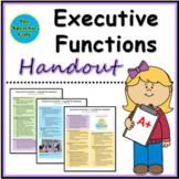 Executive Functions Handout for Teachers