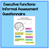 Executive Functions Informal Assessment Questionnaire