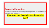 Executive Order Case Study; Powers of the President