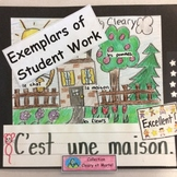 Exemplars of student work - French - 4 Coloured Posters