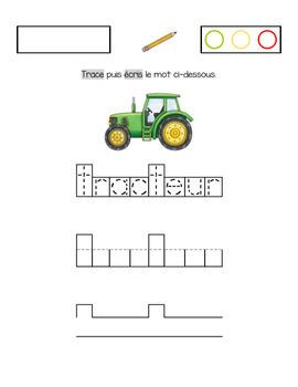 Exercices d'écriture sur le thème de la ferme