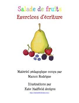 Exercices d'écriture sur le thème des fruits