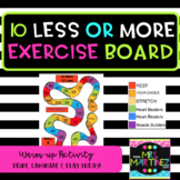 Exercise 10 more or 10 less game board