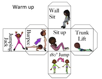 Physical Education Warm Up Games-Exercise Dice: Locomotor & NonLocomotor-Bundle