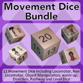 Physical Education Warm Up Games-Exercise Dice: Locomotor