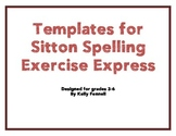 Exercise Express Templates for Sitton Spelling