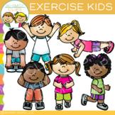 Kids Exercise Clip Art