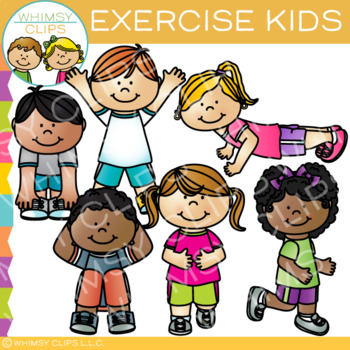 Kids Exercise Clip Art