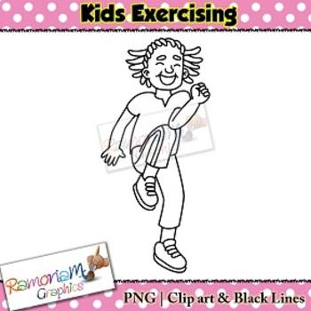 Exercise Kids Clip art