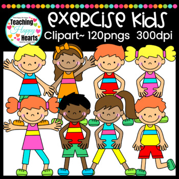 Exercise Kids Clipart