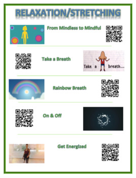 Relaxation Exercise Links - with QR code