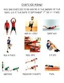 Exercise Menu