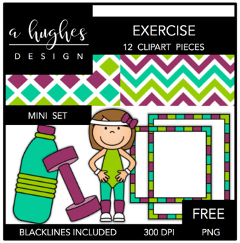 FREE Exercise Mini Set {Graphics for Commercial Use}