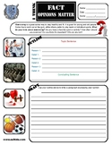 Exercise Opinion Writing Activity