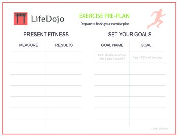 Exercise Plan Worksheet