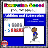 Addition and Subtraction to 10 Math Task Cards Exercise Scoot