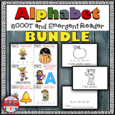 Alphabet Task Card Bundle - Exercise Scoot! {26 emergent readers included!}