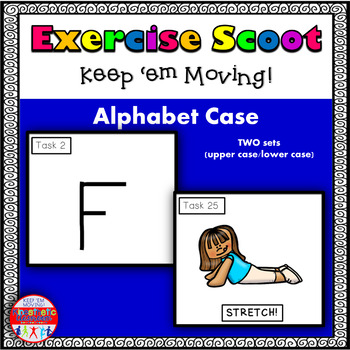 Alphabet Task Cards - Exercise Scoot! Alphabet Case