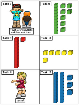 Base Ten to 30: Math Task Cards - Exercise Scoot!