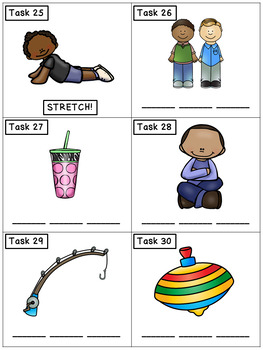 CVC Spelling Mixed Set 3: Phonics Task Cards - Exercise Scoot!