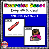 CVC Spelling Short E Vowel Task Cards Exercise Scoot