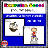 Consonant Digraph Phonics Task Cards Exercise Scoot