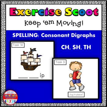 Consonant Digraphs CH, SH, TH: Phonics Task Cards - Exerci