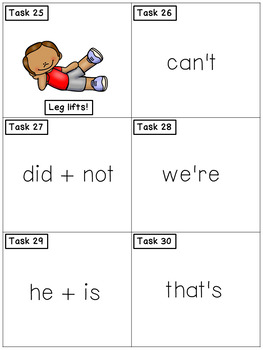 Grammar Task Cards - Contractions - Exercise Scoot!