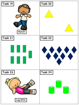 Counting: Math Task Cards - Exercise Scoot!