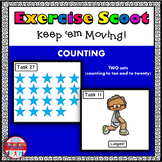 Counting Math Task Cards Exercise Scoot